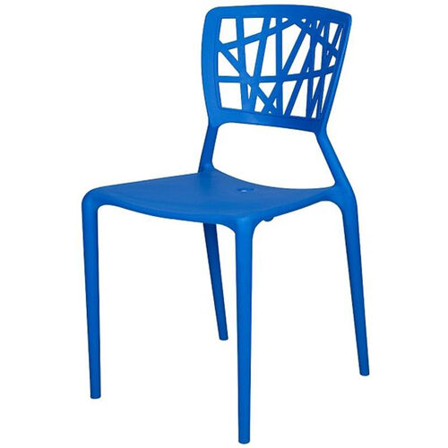 Phoenix Outdoor Stackable Armless Side Chair - Blue