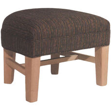 9412 Half Moon Ottoman w/ Tapered Wood Legs - Grade 1