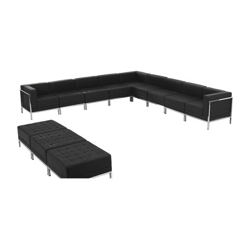 Our HERCULES Imagination Series Black LeatherSoft Sectional & Ottoman Set, 12 Pieces is on sale now.