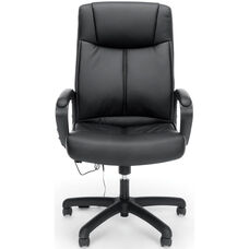 Essentials Vibrating Massage High-Back Leather Executive Office Chair - Black