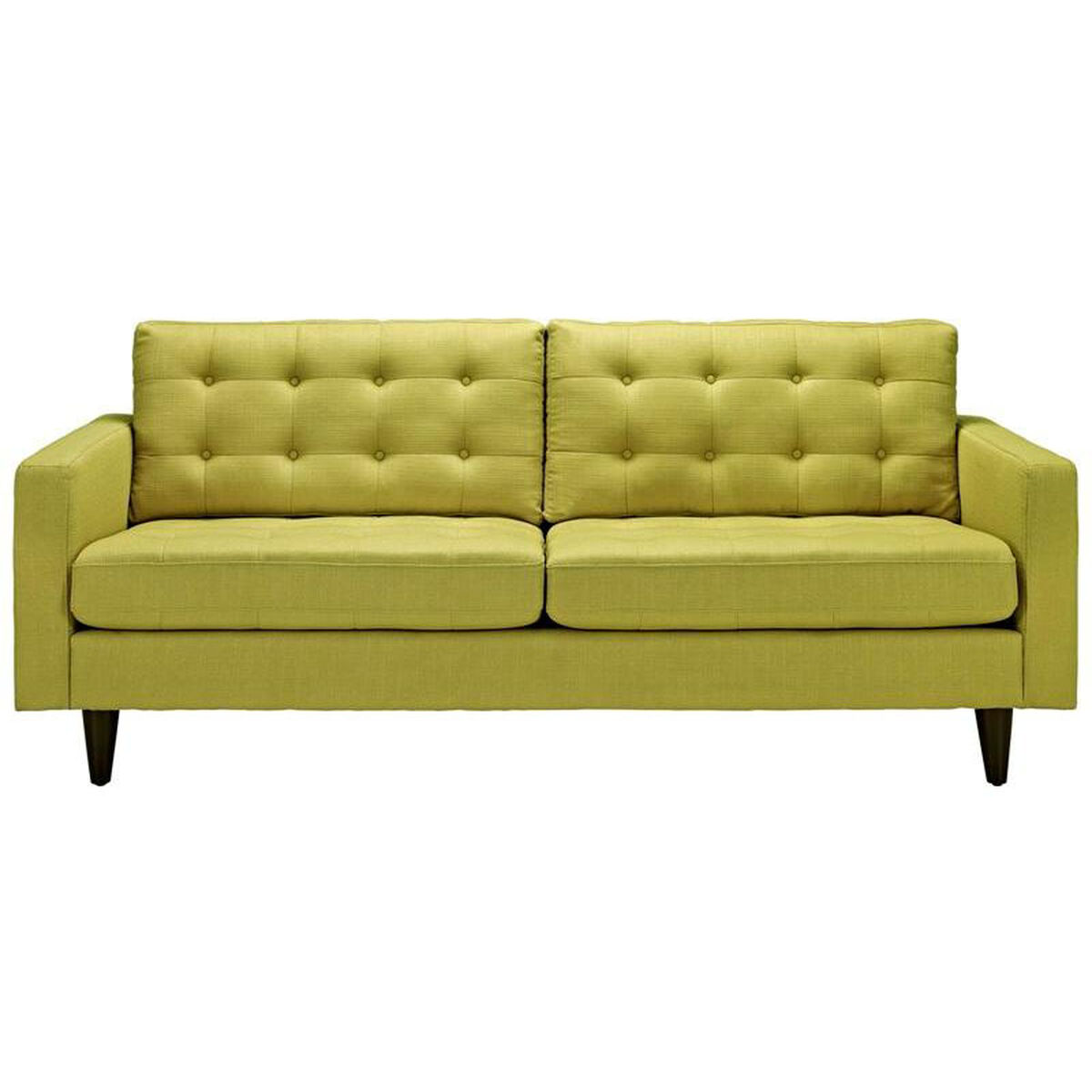 Modway empress upholstered sofa in wheatgrass eei 1011 whe Upholstered sofas and loveseats