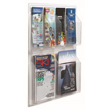 Clear-VU Combination Pamphlet and Magazine Display - 4 Pamphlets and 2 Magazines