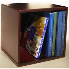 Bindertek Stack and Style Wood Desk Stacking Cube Organizer - Cherry Finish
