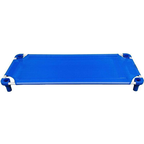 Our Blue Toddler Sized Cot with Steel Frame and Polypropylene Legs - Assembled - 40