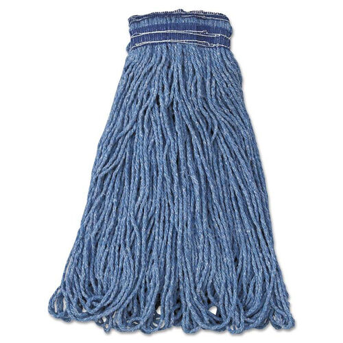 Our Rubbermaid® Commercial Universal Headband Mop Head - Cotton/Synthetic - 24oz - Blue - 12/Carton is on sale now.