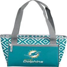 Miami Dolphins Team Logo Double Diamond 16 Can Cooler