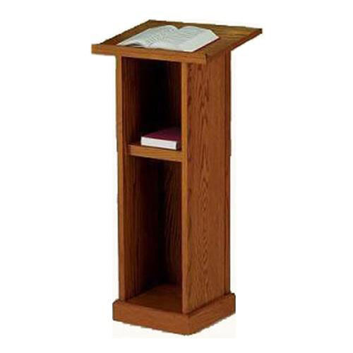 Our Stained Red Oak Full Pedestal Lectern is on sale now.