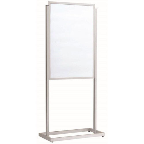 Our Boaster Freestanding Double Sided Poster Holder - Silver - 63