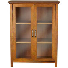 Avery Floor Cabinet with Two Doors - Oil Oak