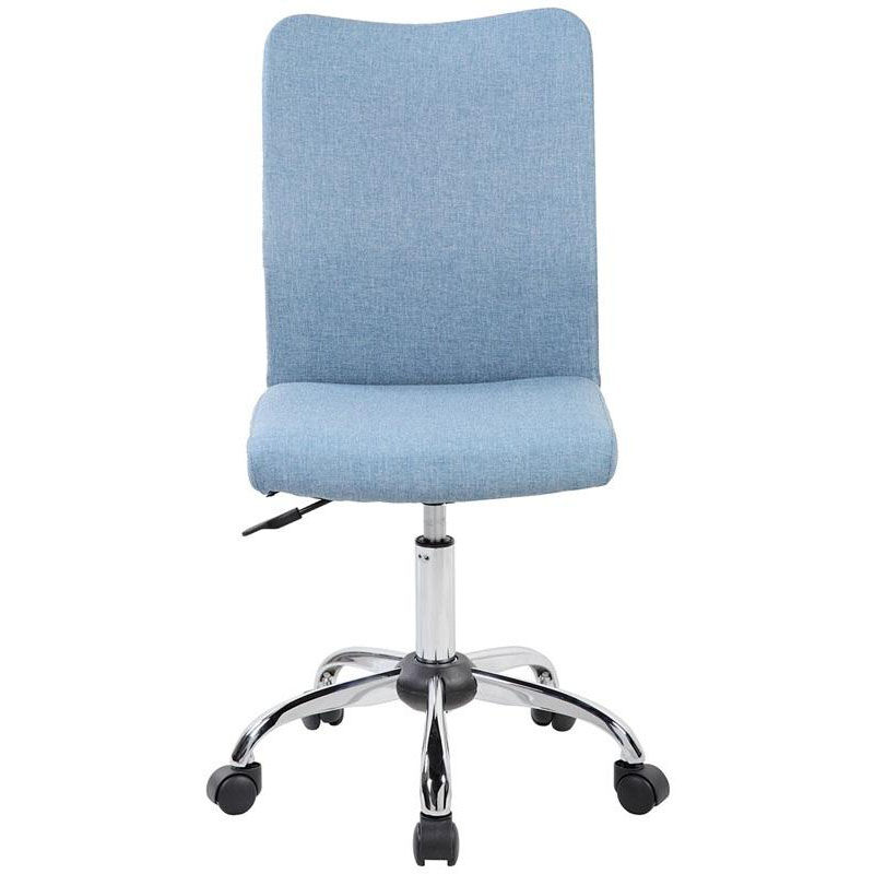 Our Techni Mobili Modern Armless Task Chair With Chrome Base   Blue Jean Is  On Sale