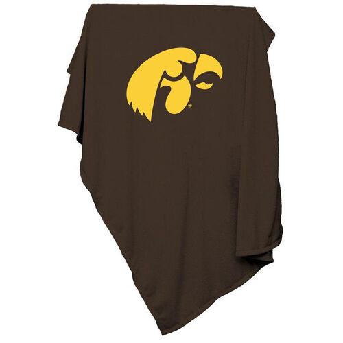 University of Iowa Team Logo Sweatshirt Blanket