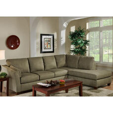 Broome Contemporary Style Polyester 2 Piece Sectional - Glacier Olive