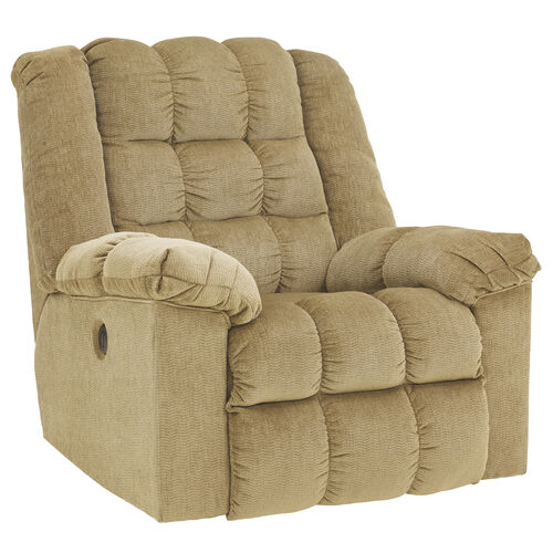 Our Signature Design by Ashley Ludden Power Rocker Recliner in Sand Twill is on sale now.