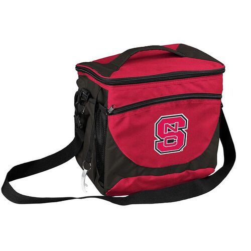 Our North Carolina State University Team Logo 24 Can Cooler is on sale now.