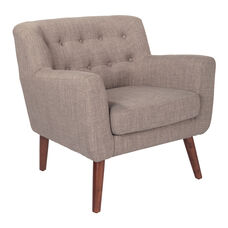 Ave Six Mill Lane Chair in Cement Fabric with Coffee Legs