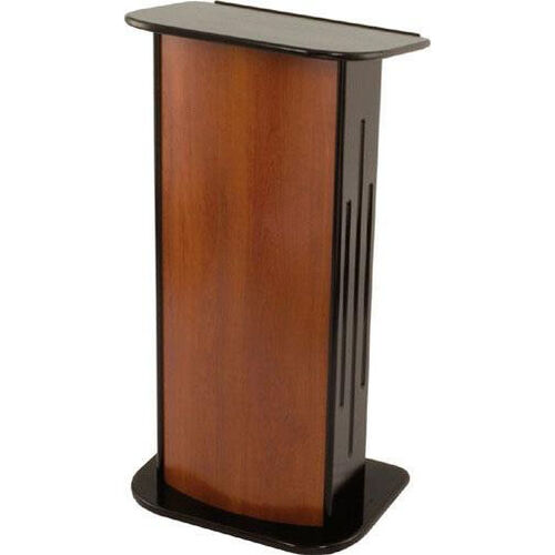 346 Series Classic Wooden Lectern - Black Hardwood and Cherry Laminate - 24