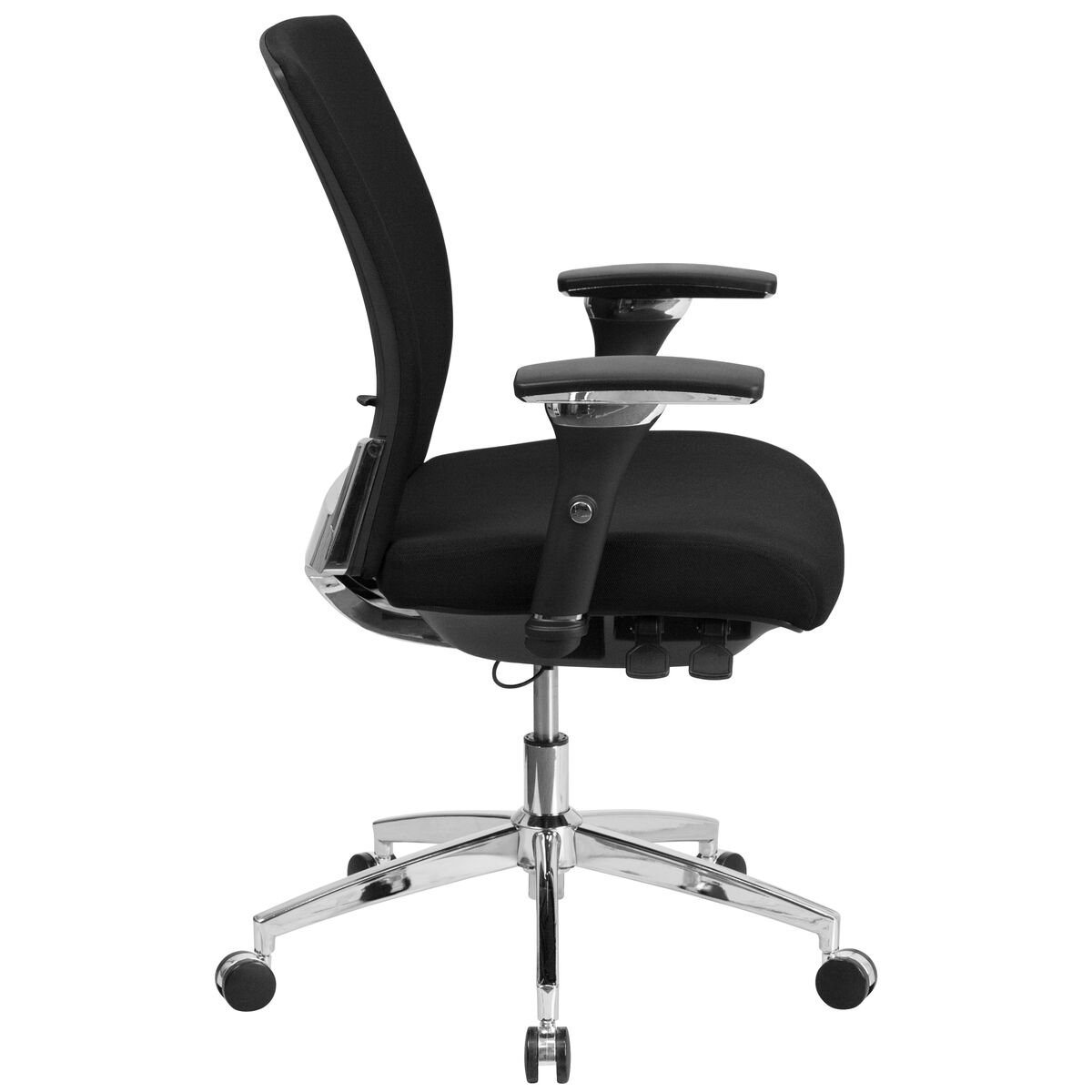 Rated Black Fabric Multifunction Executive Our Hercules Series 24 7 Intensive Use 300 Lb