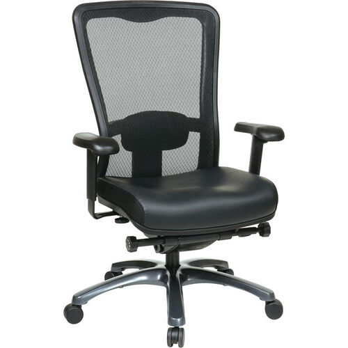 Our Pro-Line II ProGrid® Mesh High Back and Eco Leather Seat Task Chair with Titanium Base and Casters - Black is on sale now.