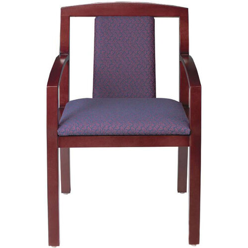 Quick Ship Contempo Partial Upholstered Back Arm Chair