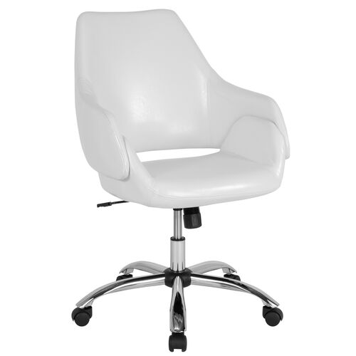 Our Madrid Home and Office Upholstered Mid-Back Chair in White LeatherSoft is on sale now.