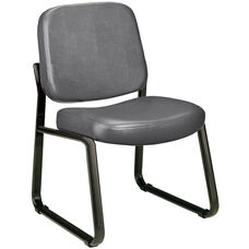 Anti-Microbial and Anti-Bacterial Vinyl Guest and Reception Chair - Charcoal