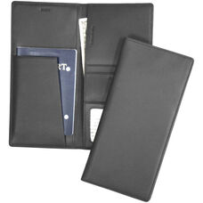 Passport and Ticket Holder - Top Grain Nappa Leather - Black