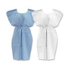 Medline Disposable Patient Gowns - Blue