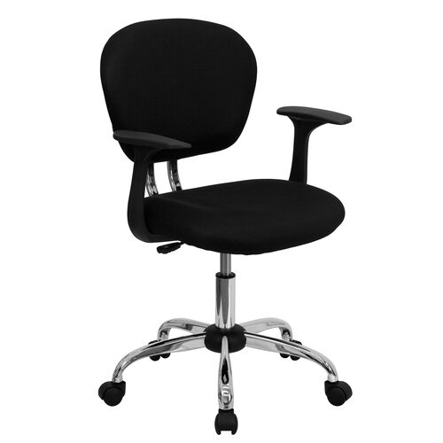 Our Mid-Back Black Mesh Padded Swivel Task Office Chair with Chrome Base and Arms is on sale now.