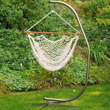 Cotton Rope Hanging Hammock Rope Chair - White
