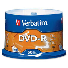Verbatim Dvd-R Spindle - Pack Of 50