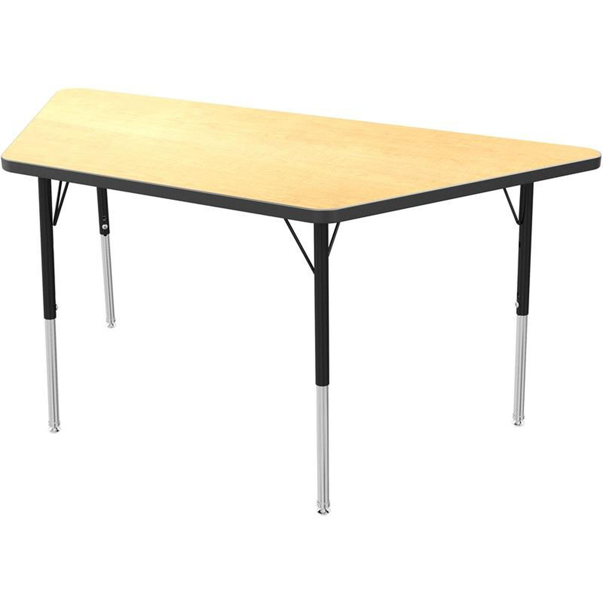 Mg trapezoid kids activity table mg2276 50 ablk for Trapazoid table