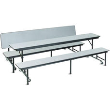 AdapTable™ Rectangular Convertible Cafeteria Table with Bench - 72