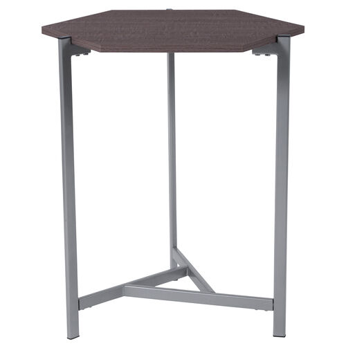 Our Back Bay Rustic Wood Grain Finish End Table with Silver Metal Frame is on sale now.