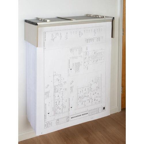 Blueprint Storage Drop Lift Wall Rack