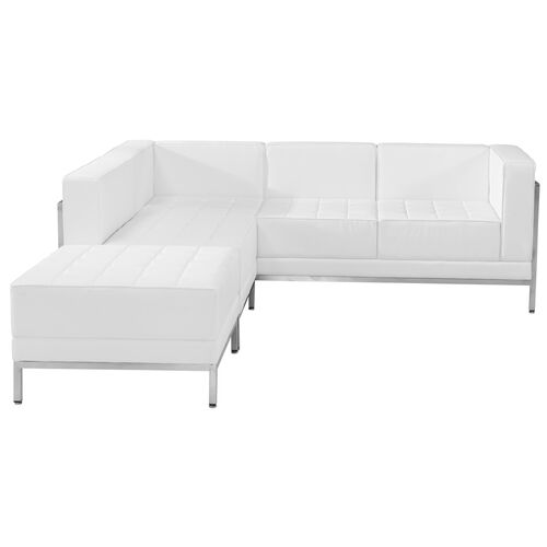 Our HERCULES Imagination Series Melrose White Leather Sectional Configuration, 3 Pieces is on sale now.