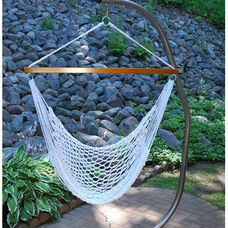 Domestic Soft Polyester Hanging Hammock Rope Chair - White