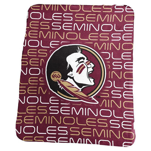Florida State University Team Logo Classic Fleece Throw