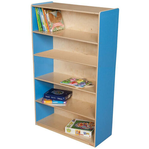 Our Wooden 5 Fixed Shelf Bookcase with Plywood Back - Blueberry - 36