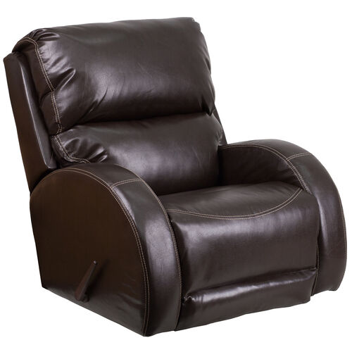 Contemporary Ty Leather Rocker Recliner