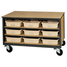 3-Shelf Tote Tray Mobile Storage