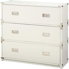 OSP Designs Wellington 3-Drawer Cabinet - White