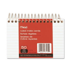 Mead Index Cards - Wirebound - Ruled - 5