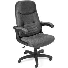 Mobile Arm Executive Conference Mobile Chair - Gray Carbon