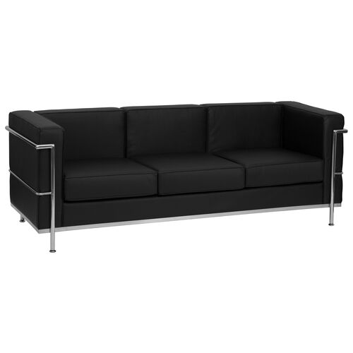 Our HERCULES Regal Series Contemporary Black LeatherSoft Sofa with Encasing Frame is on sale now.