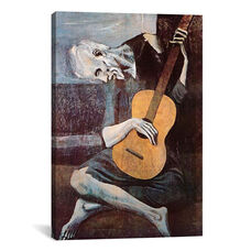 The Old Guitarist by Pablo Picasso Gallery Wrapped Canvas Artwork - 18