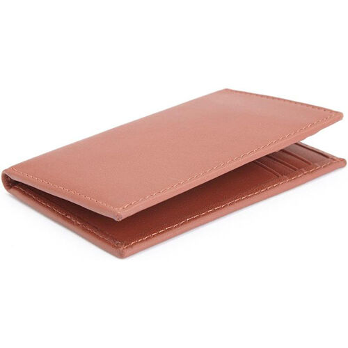 Our RFID Blocking ID Card Case Wallet - Top Grain Nappa Leather - Tan is on sale now.