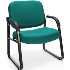 Big & Tall Guest and Reception Fabric Chair with Arms - Teal