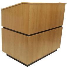 Coventry Non-Sound Multimedia Lectern - Oak Finish - 30