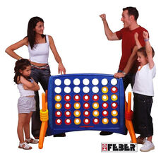Indoor Outdoor Fade and Weather Resistant Junior Four to Score Game with Built-in Ring Holders