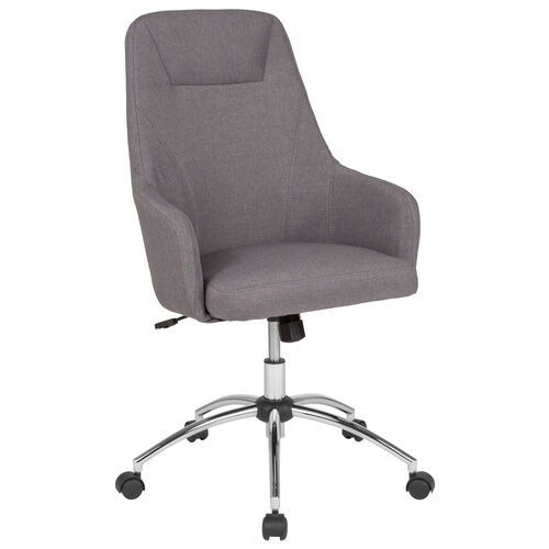 Our Rennes Home and Office Upholstered High Back Chair in Light Gray Fabric is on sale now.